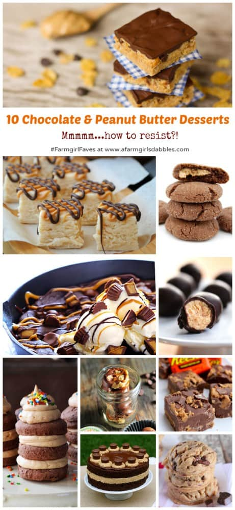 A Collage of The Best Chocolate and Peanut Butter Desserts