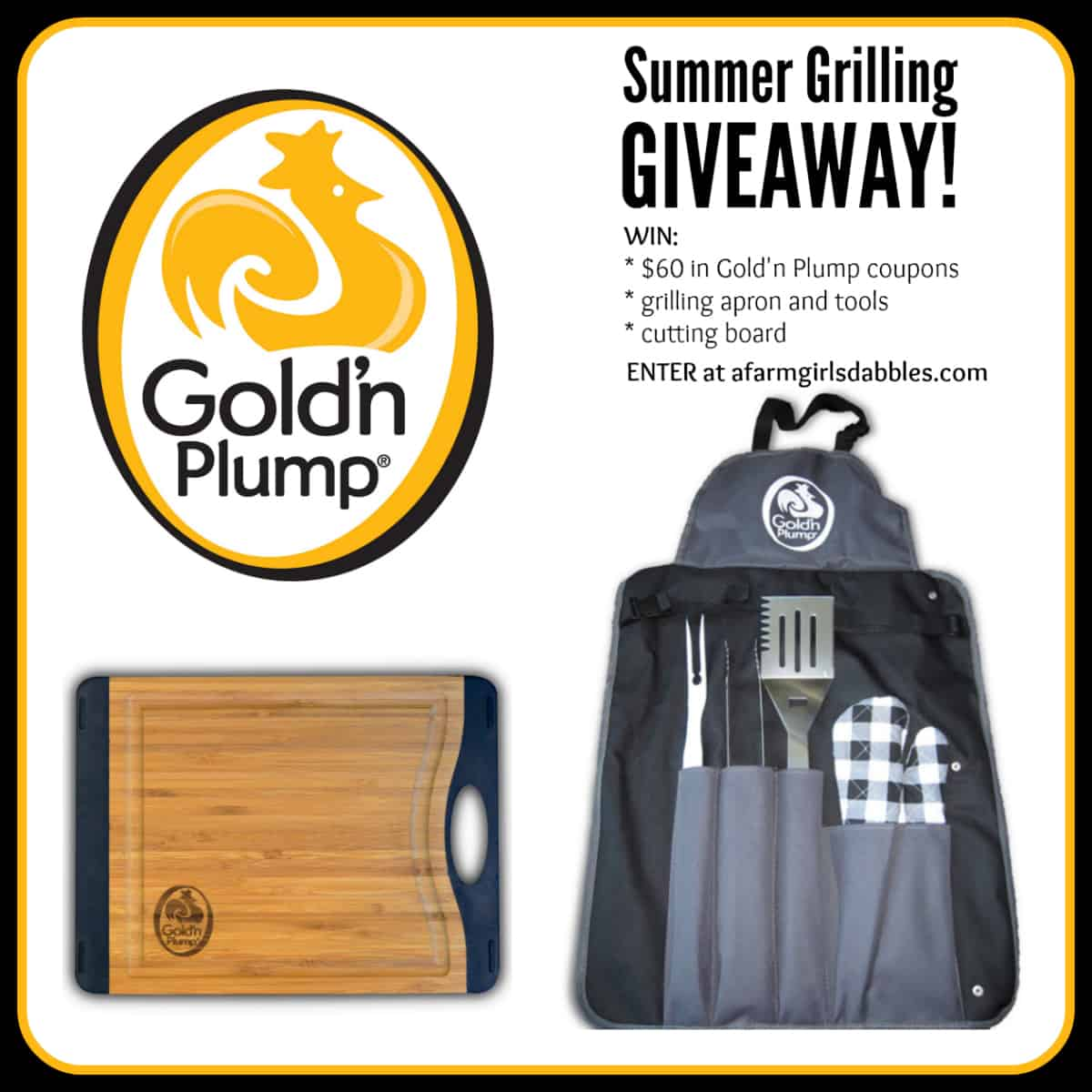 Summer Grilling #Giveaway from Gold'n Plump - enter at afarmgirlsdabbles.com