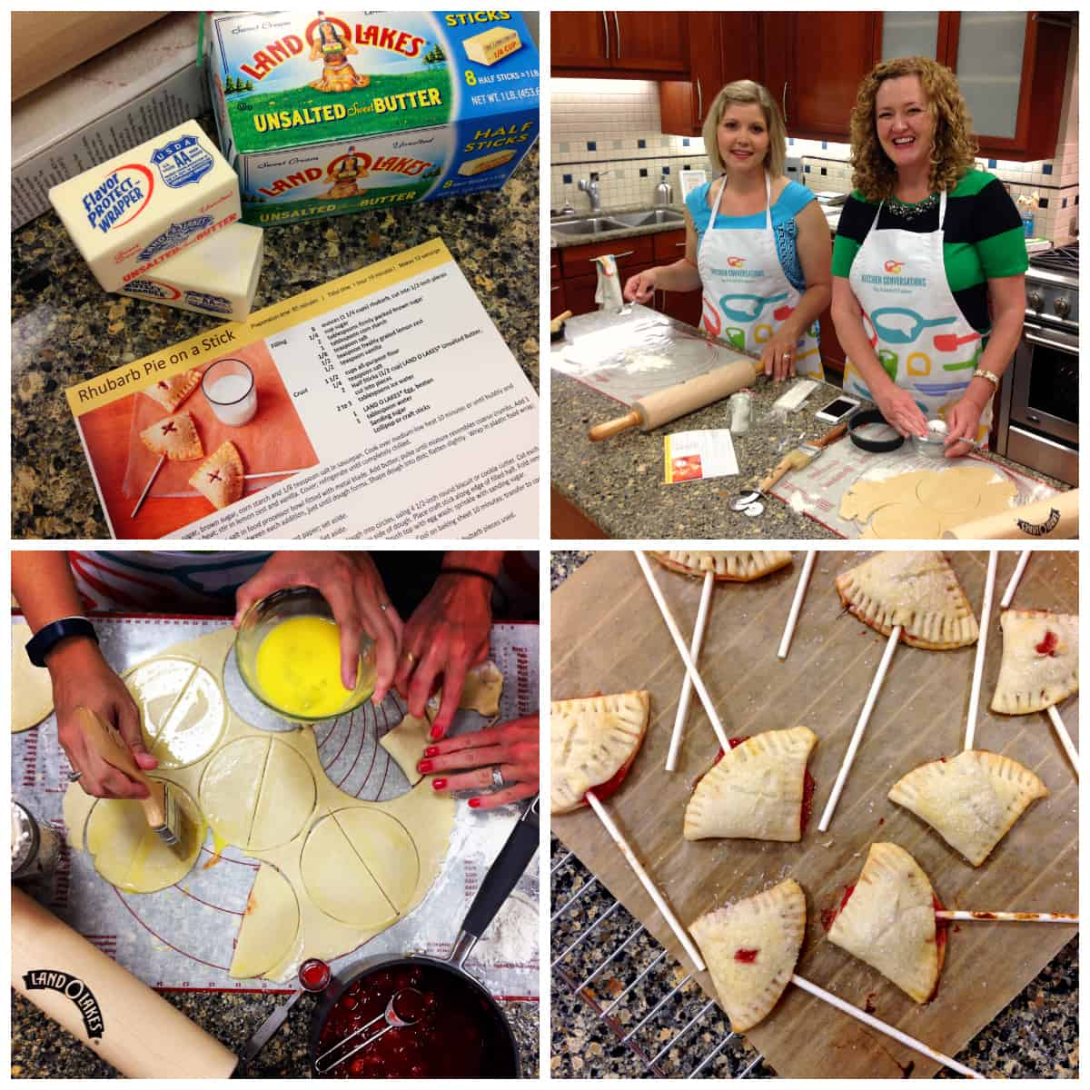 Simple Goodness on the Farm with Land O'Lakes - afarmgirlsdabbles.com #kitchenconvo #rhubarb #pie