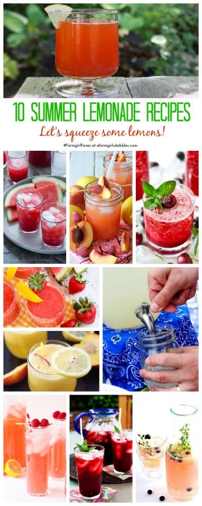 A Collage of the Best Lemonade Recipes for Summer