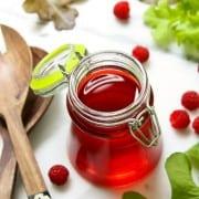a jar of Raspberry Vinegar