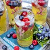 passion fruit and berries sparkler