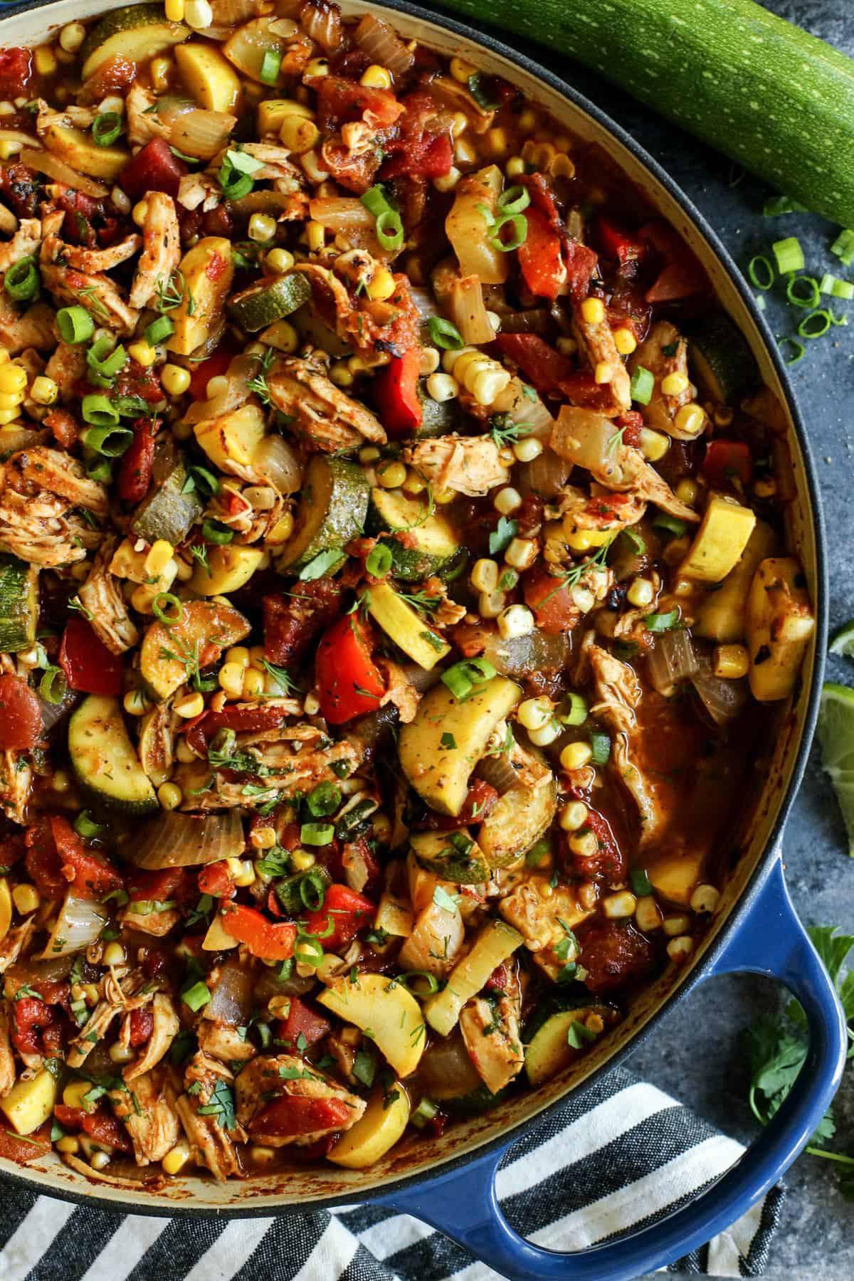 a pot of Summer Chicken Chili