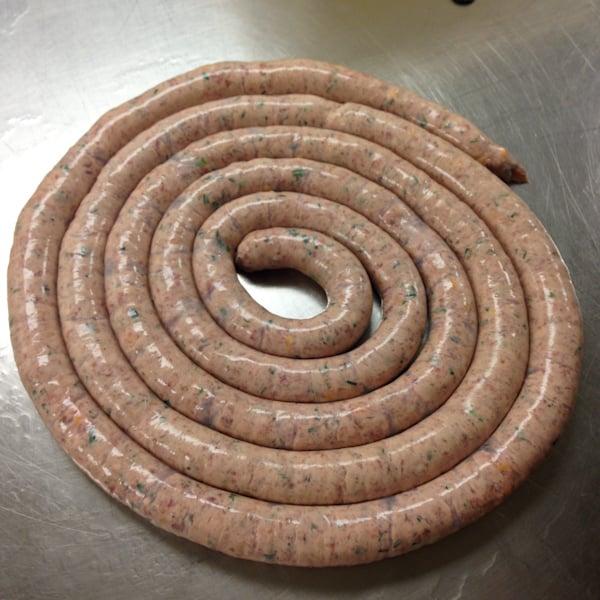 Butcher & the Boar, making #cheddarwurst - #PorkBucketList at afarmgirlsdabbles.com - #sausage #cheese #cheddar @farmgirlsdabble