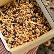 nut and fruit granola bar