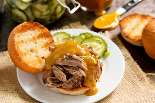 Slow Cooker Island Pulled Pork - afarmgirlsdabbles.com #pork #slowcooker #slowNwholeCookbook