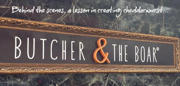 Butcher & the Boar - a lesson in creating cheddarwurst with #PorkBucketList - #pork #sausage #cheddar #cheddarwurst #cheese