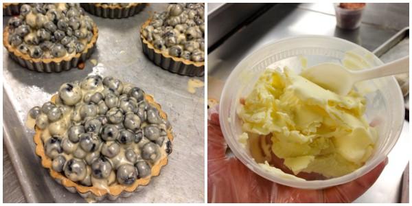 Butcher & the Boar #dessert - #PorkBucketList at afarmgirlsdabbles.com @farmgirlsdabble #blueberries #CremeFraiche