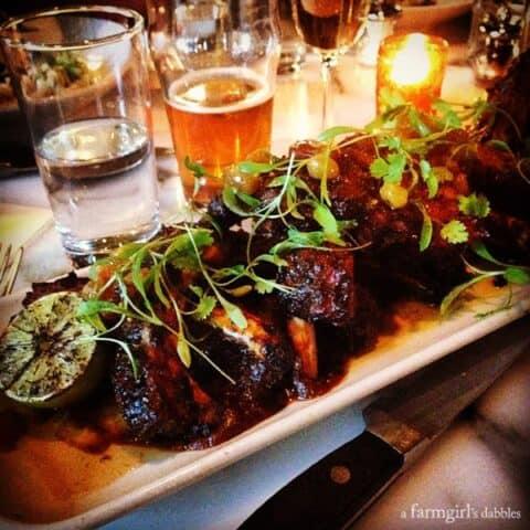 Jerk Baby Back Pork Ribs served at Butcher and the Boar restaurant