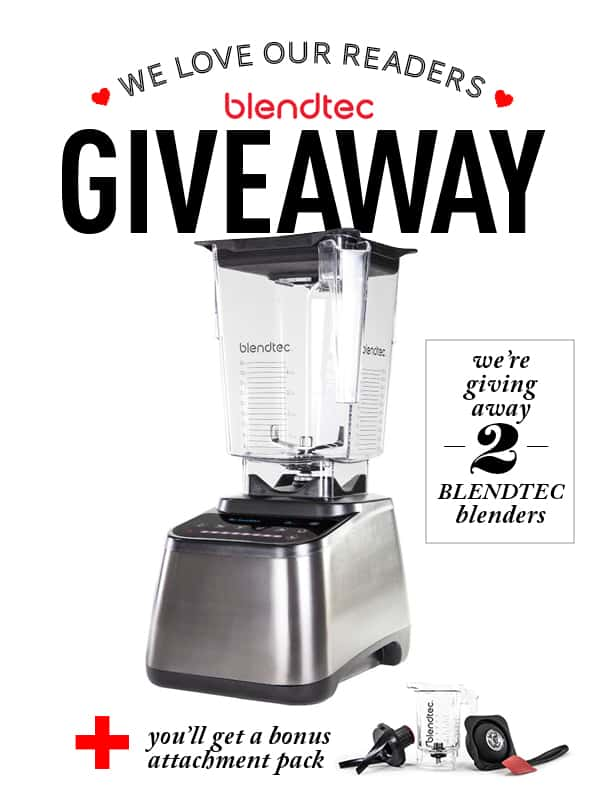 Blendtec Giveaway {2 winners!} - enter at afarmgirlsdabbles.com! #giveaway