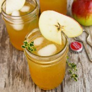 Harvest Apple Sangria with Bourbon and Thyme