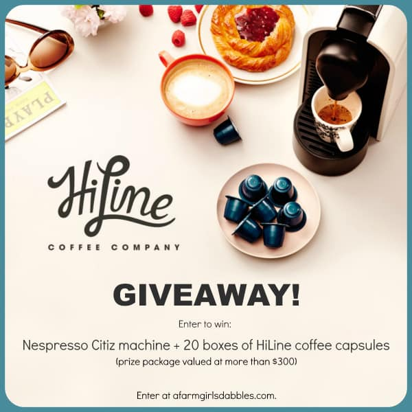 HiLine Coffee + Nespresso Citiz machine #Giveaway - enter at afarmgirlsdabbles.com #coffee