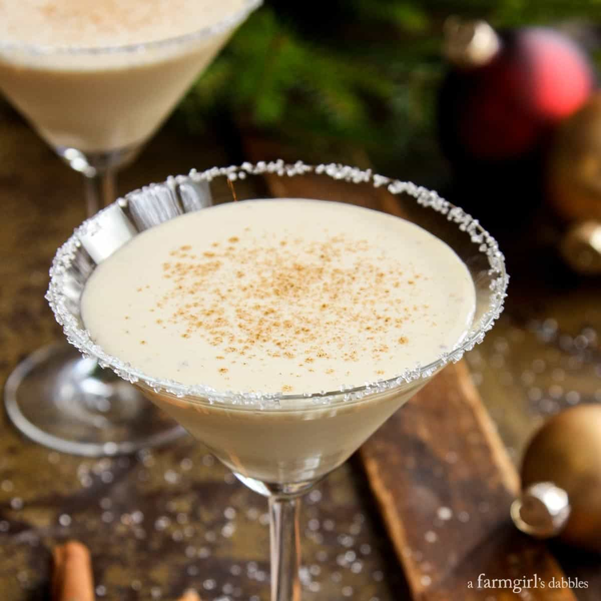 Eggnog Cocktail from afarmgirlsdabbles.com