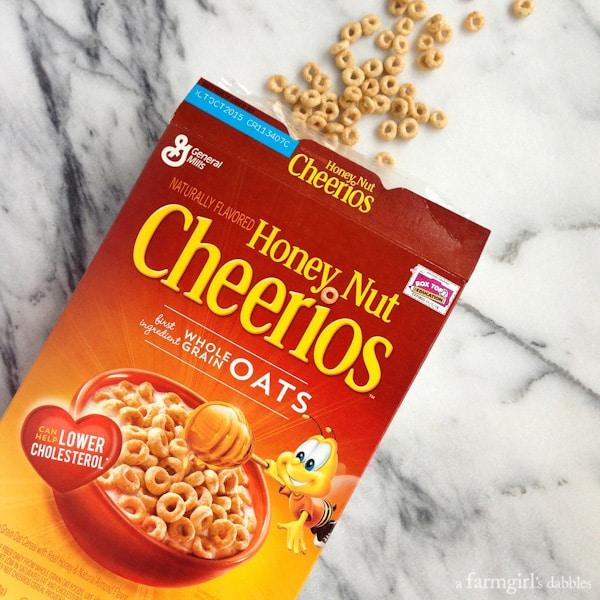 a box of honey nut cheerios