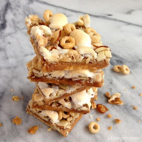 Caramel Honey Nut Cheerios Squares