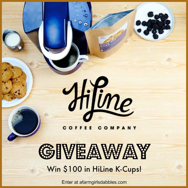 HiLine Coffee K-Cup #Giveaway - enter at afarmgirlsdabbles.com