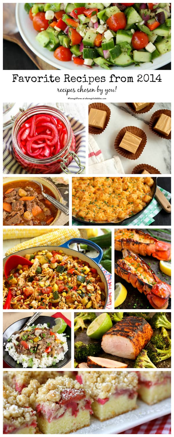 favorite recipes from 2014, recipes chosen by you! - afarmgirlsdabbles.com #farmgirlfaves