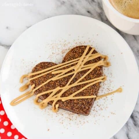 fudgy brownie heart