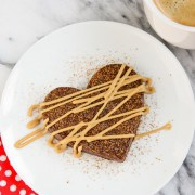 Fudgy Brownie Hearts with Espresso Glaze