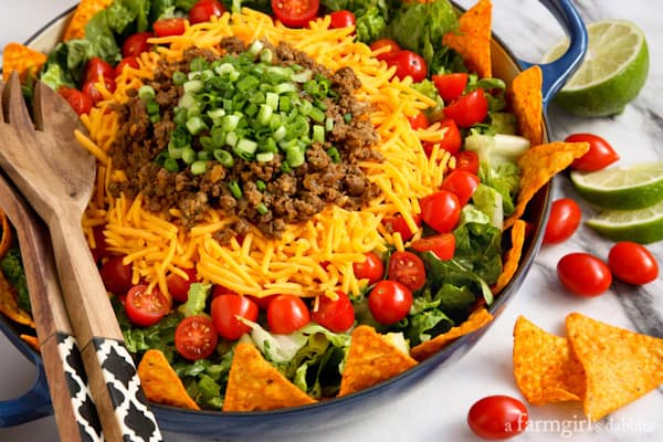 taco salad and at each one i have 1 taco salad this one with taco