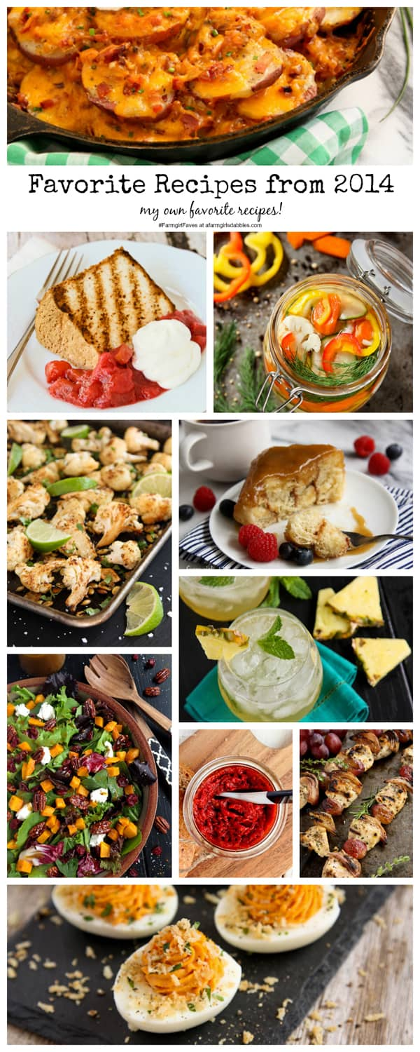 favorite recipes from 2014, my own favorite recipes! - afarmgirlsdabbles.com #farmgirlfaves