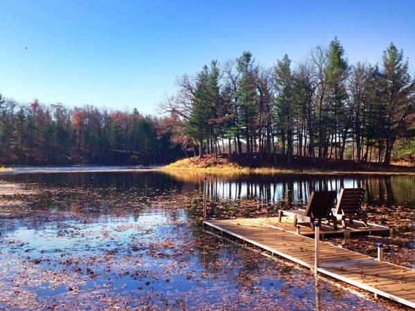 a lake at Canoe Bay