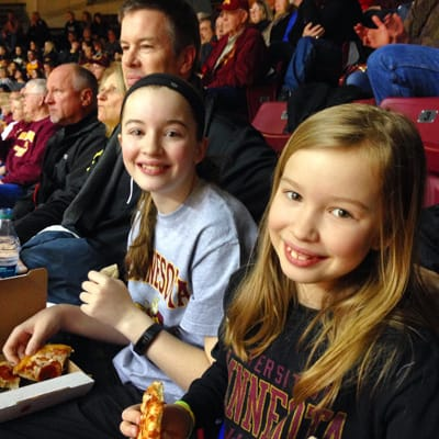 Gopher women's basketball game - from afarmgirlsdabbles.com
