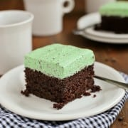 The Best Chocolate Cake with Fluffy Mint Chocolate Chip Buttercream from afarmgirlsdabbles.com