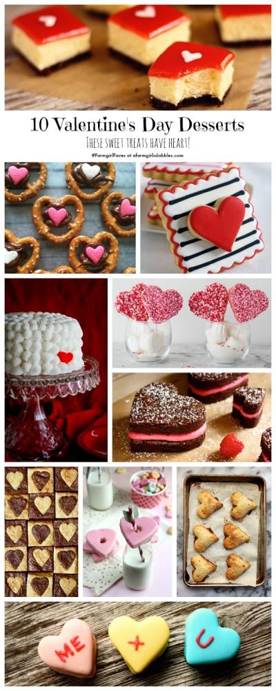 collage of 10 Valentine's Day Desserts