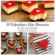 valentine's recipe collage