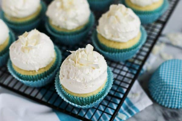 Coconut Cupcakes with Buttercream