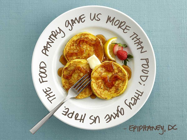 Pancakes on a plate for Pin a Meal. Give a Meal
