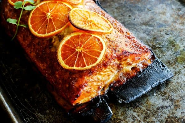 Grilled Chipotle-Orange Salmon from afarmgirlsdabbles.com
