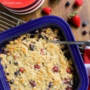 Triple Berry Coconut Crisp