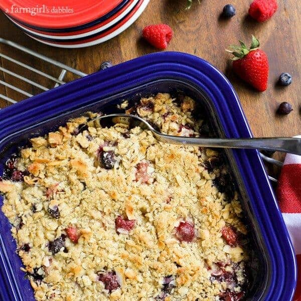 berry nutty crisp berry almond crisp with cardamom custard triple ...