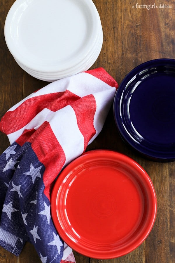 fiesta dinnerware appetizer plates in red white and blue from - Fiesta Plates