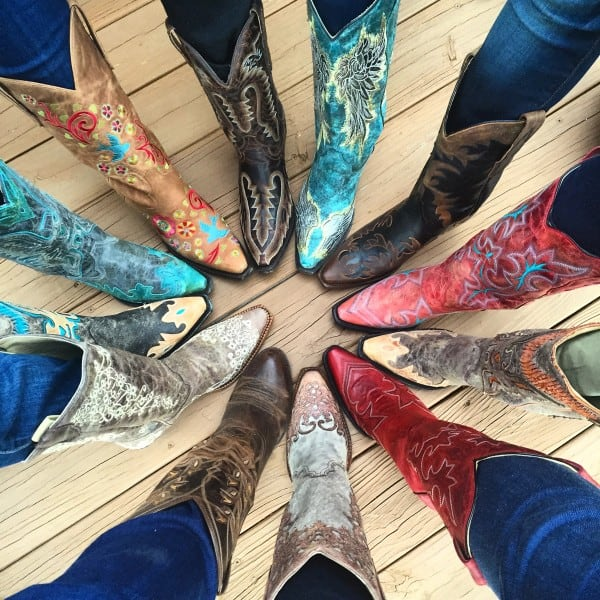 Circle of boots