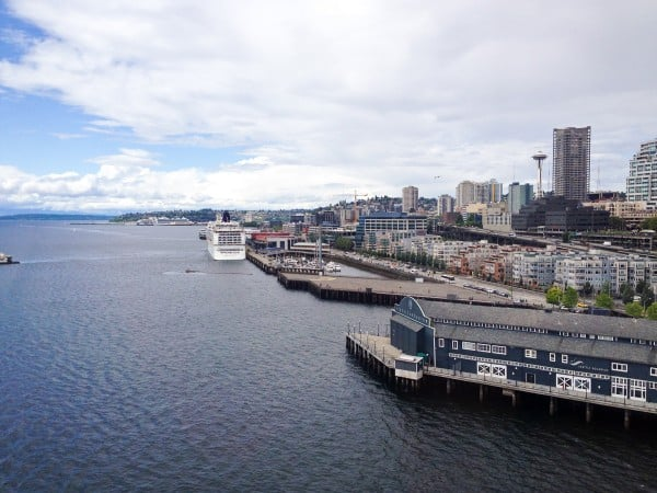 view from Seattle Great Wheel - afarmgirlsdabbles.com #afdtravel #seattle