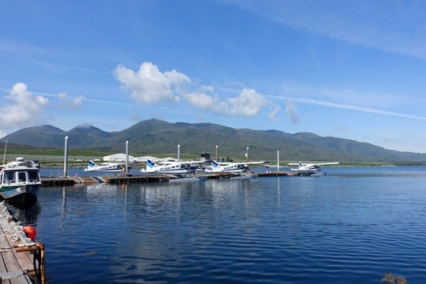 Taquan Air float planes in Ketchikan, Alaska - afarmgirlsdabbles.com