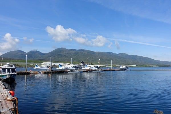 Taquan Air float planes in Ketchikan, Alaska