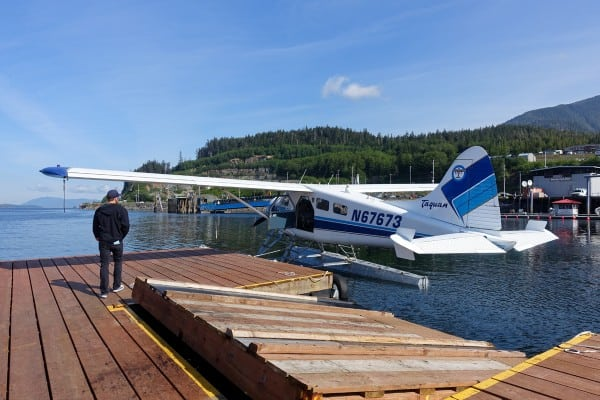DeHavilland Beaver floatplane from Taquan Air in Ketchikan, Alaska - afarmgirlsdabbles.com
