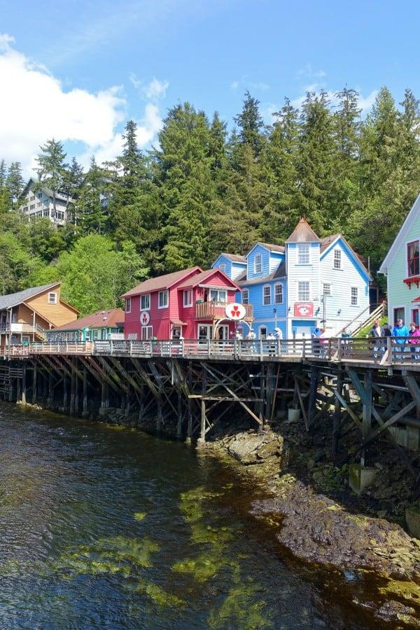 Creek Street in Ketchikan, Alaska - afarmgirlsdabbles.com
