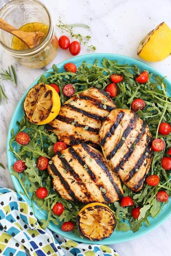 arugula, tomatoes, and Grilled Chicken Breast Salad
