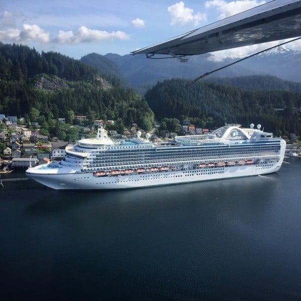 Ruby Princess docked in Ketchikan, Alaska
