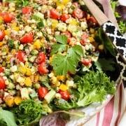 summer quinoa and veggies salad