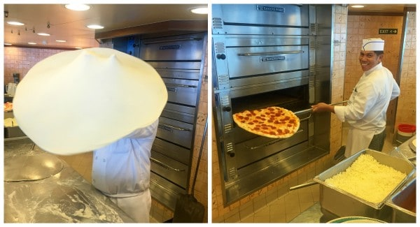 the Pizzeria on the Ruby Princess