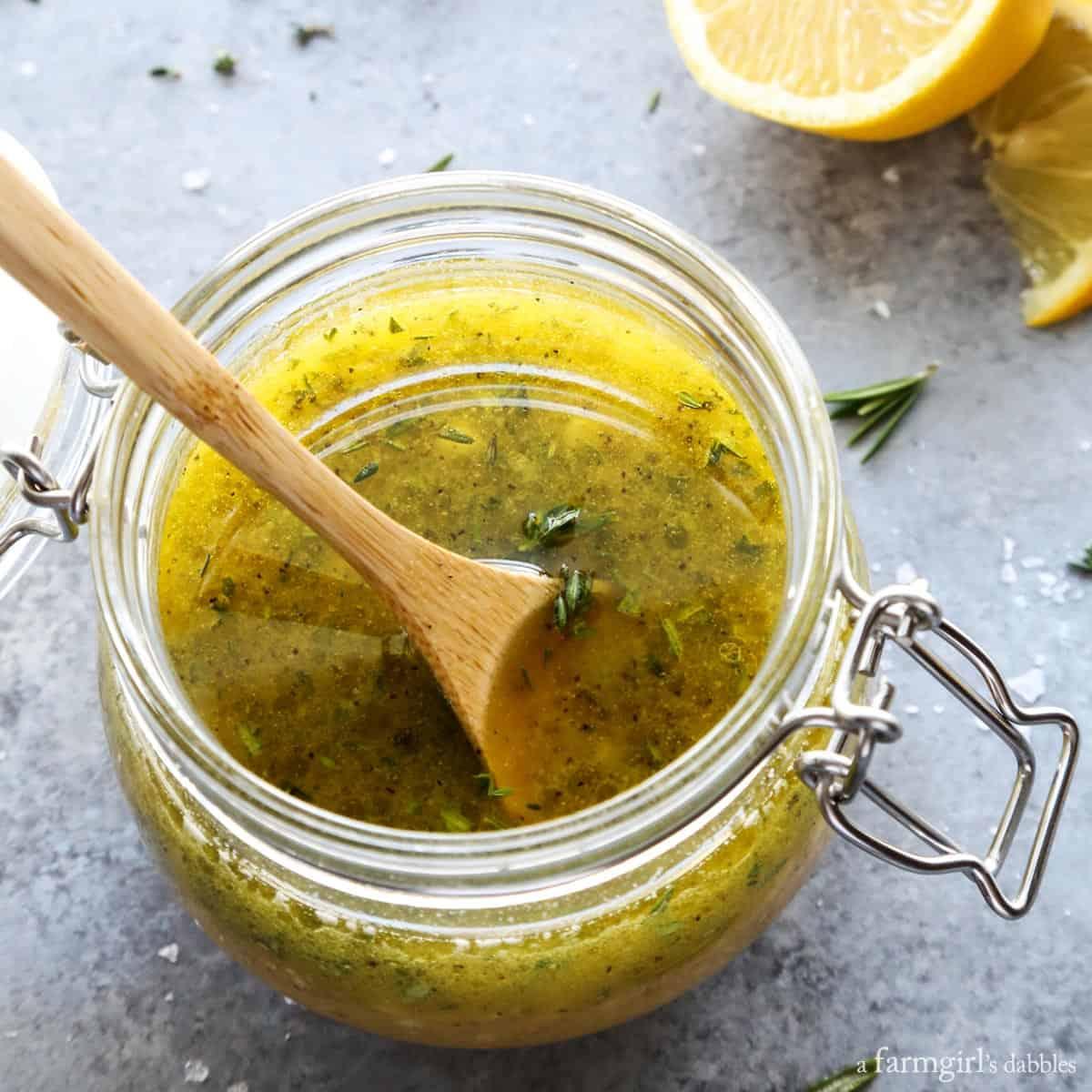 Herby Lemon Vinaigrette from afarmgirlsdabbles.com