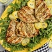 herbs de Provence chicken breasts grilled under a brick