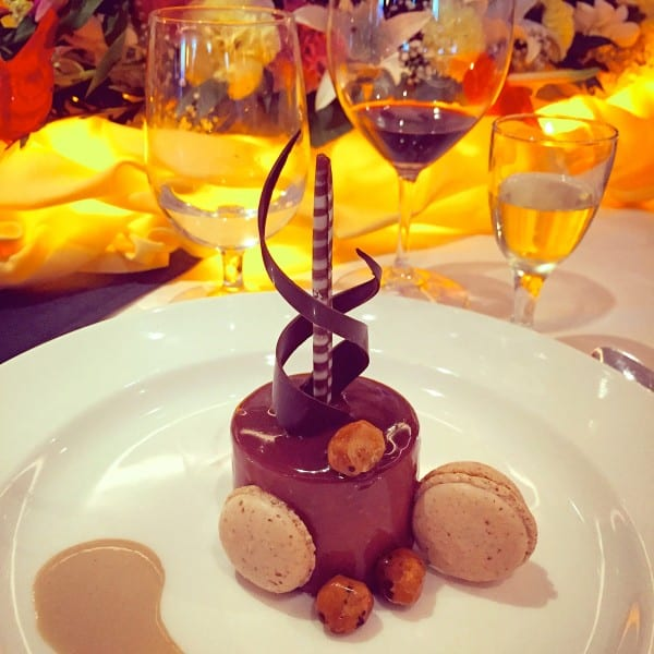 Chocolate Praline Timbale with Hazelnut Mousse from Princess Cruises' Chef's Table experience