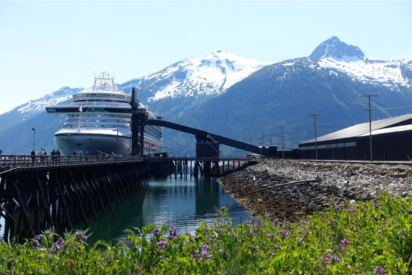 Skagway, Alaska - Ruby Princess at port - from afarmgirlsdabbles.com #AFDtravel #comebacknew